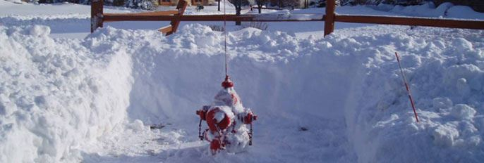 Hydrant Covered in Snow