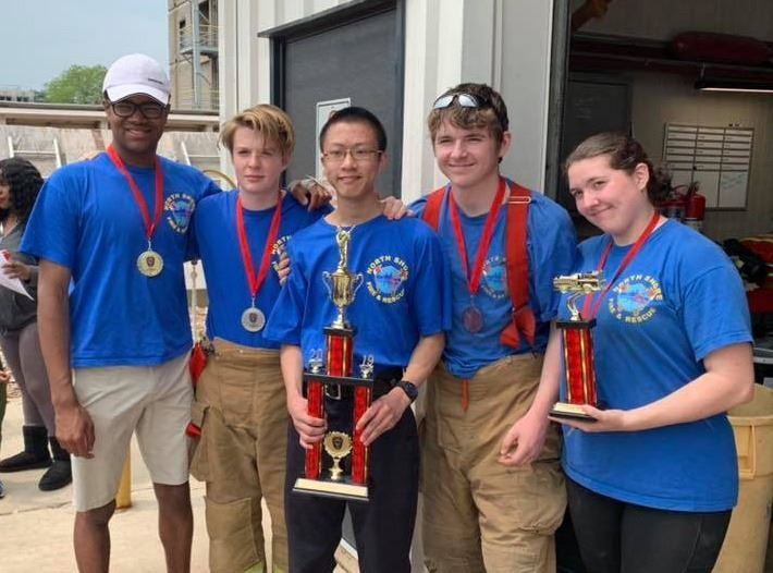 North Shore Cadets with trophy